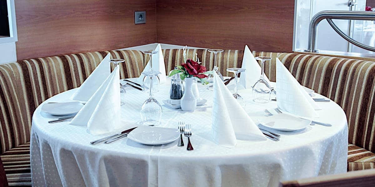 Restaurant onboard Paldiski-Kapellskar ferry