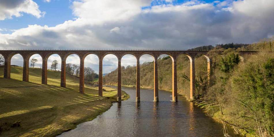 Leaderfoot Viaduct at Melrose
