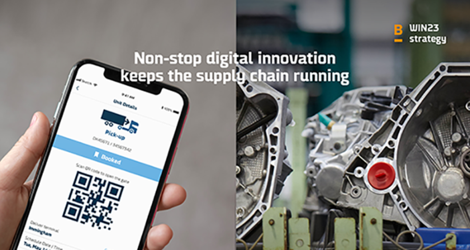 Pillar 1 of the DFDS' win23 strategy: digital innovation in the supply chain