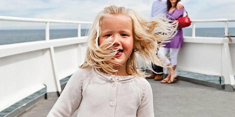 Child enjoying the entertainment onboard DFDS ferry