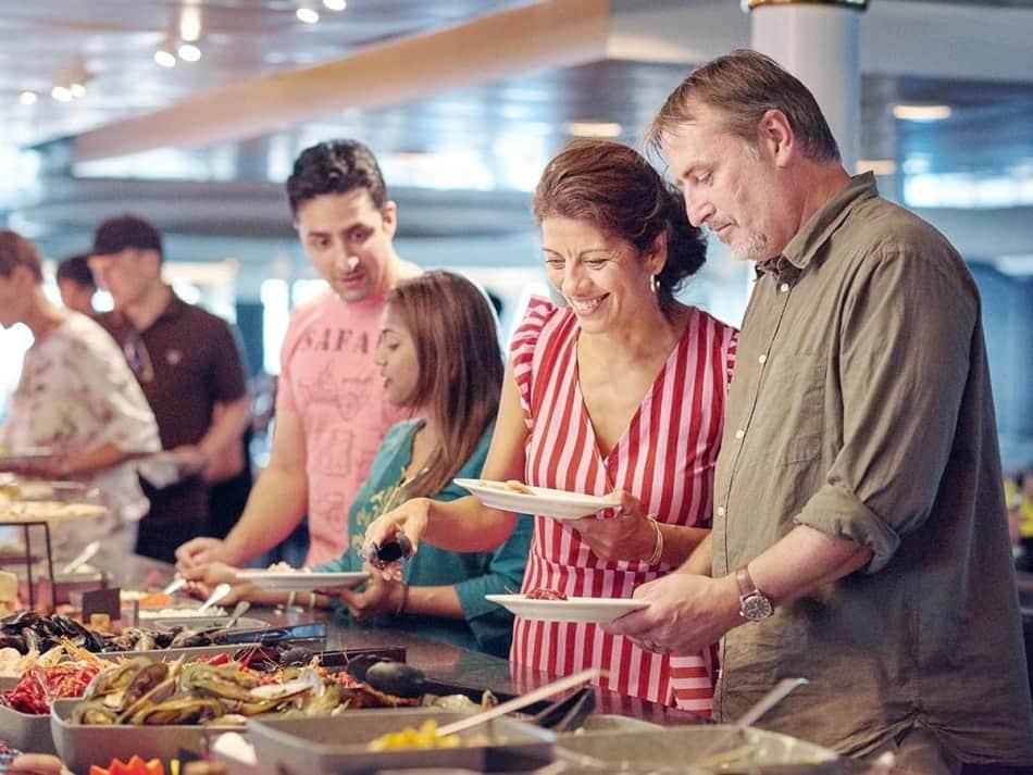 7 Seas buffet onboard Copenhagen-Oslo
