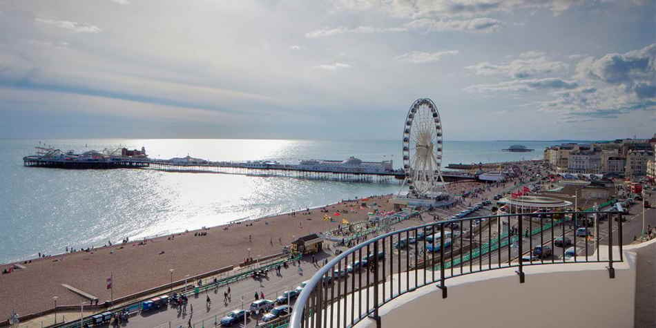 Brighton beach view UK