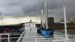 Econowind sail concept test on Lysbris Seaways