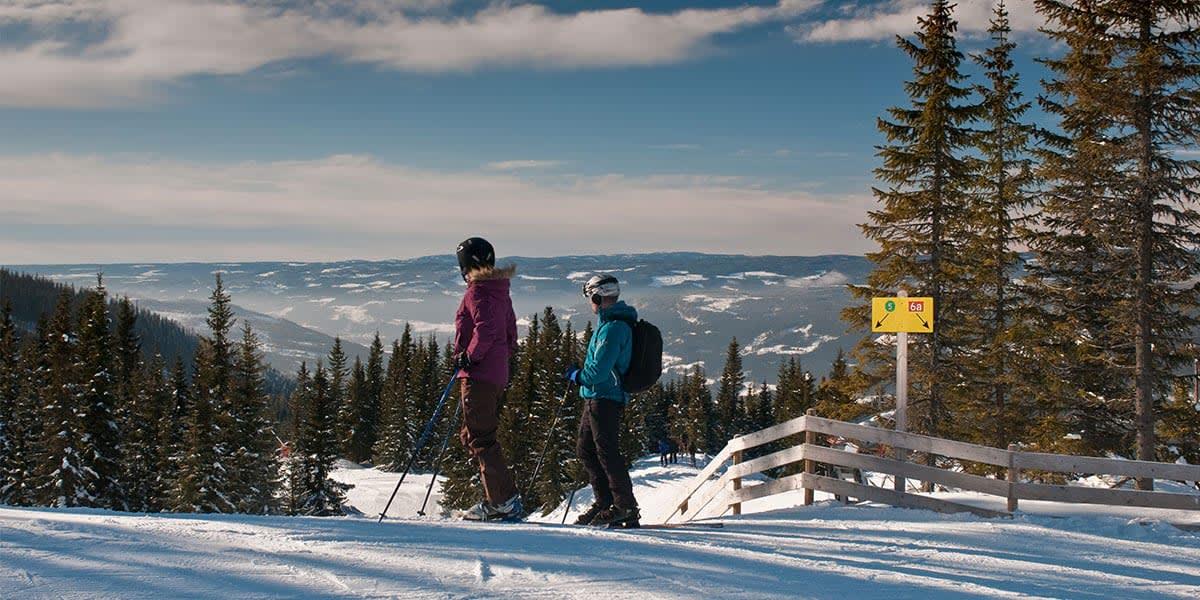 Skiing in Norway - Hafjell