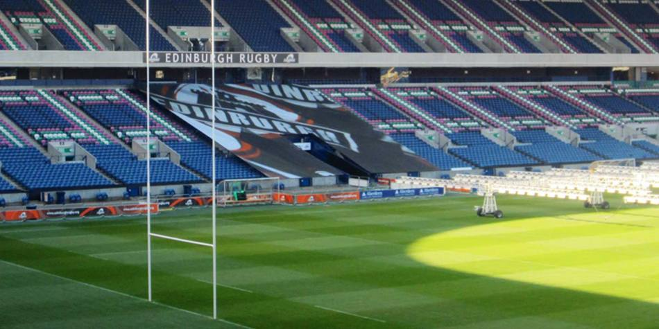 Murrayfield Stadium in Edinburgh, Scotland