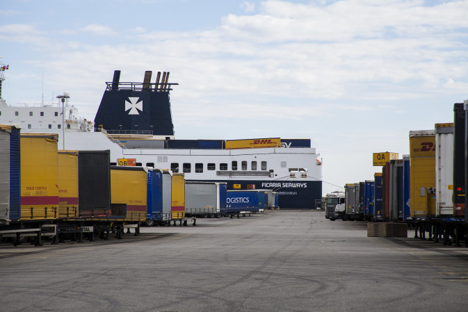 DFDS terminal with Ficaria Seaways
