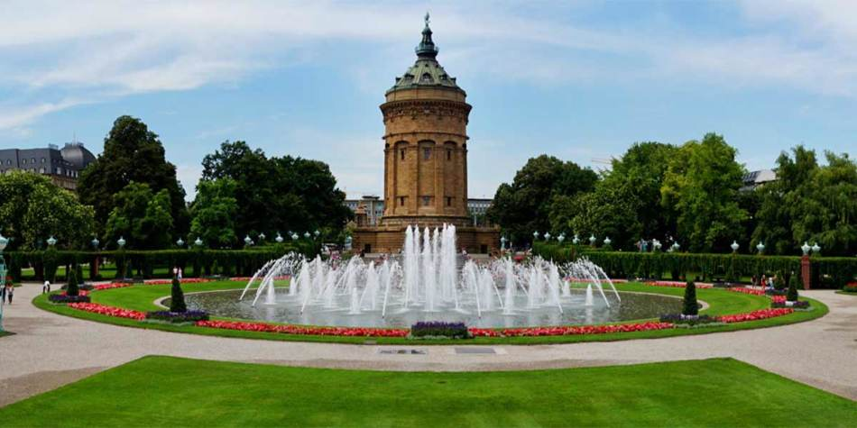 A fountain in the city of Mannheim, Germany