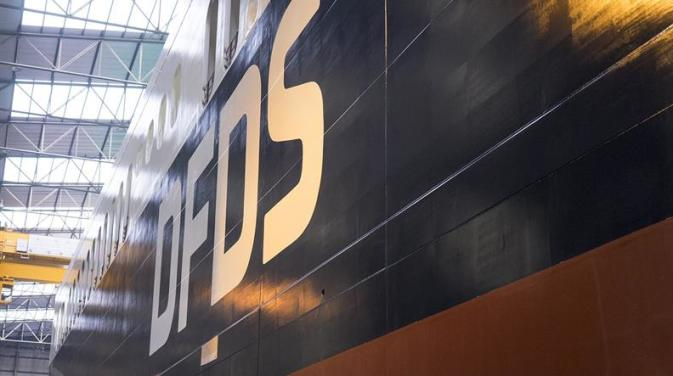 DFDS vessel in drydock