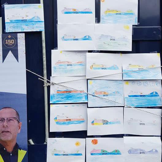 coloured ships 150, Coloring competition, Calais/Dieppe, entries