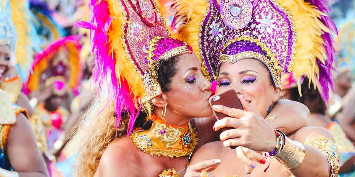 Carnival dancing selfie