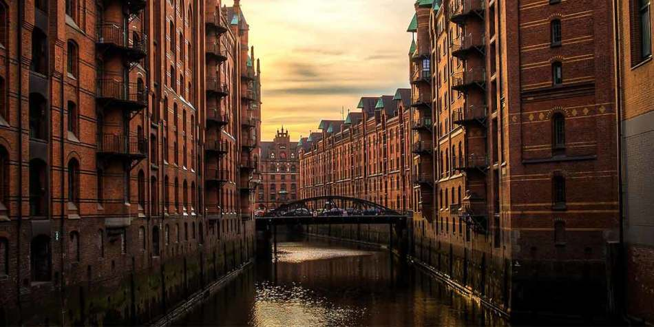 River in Hamburg, Germany