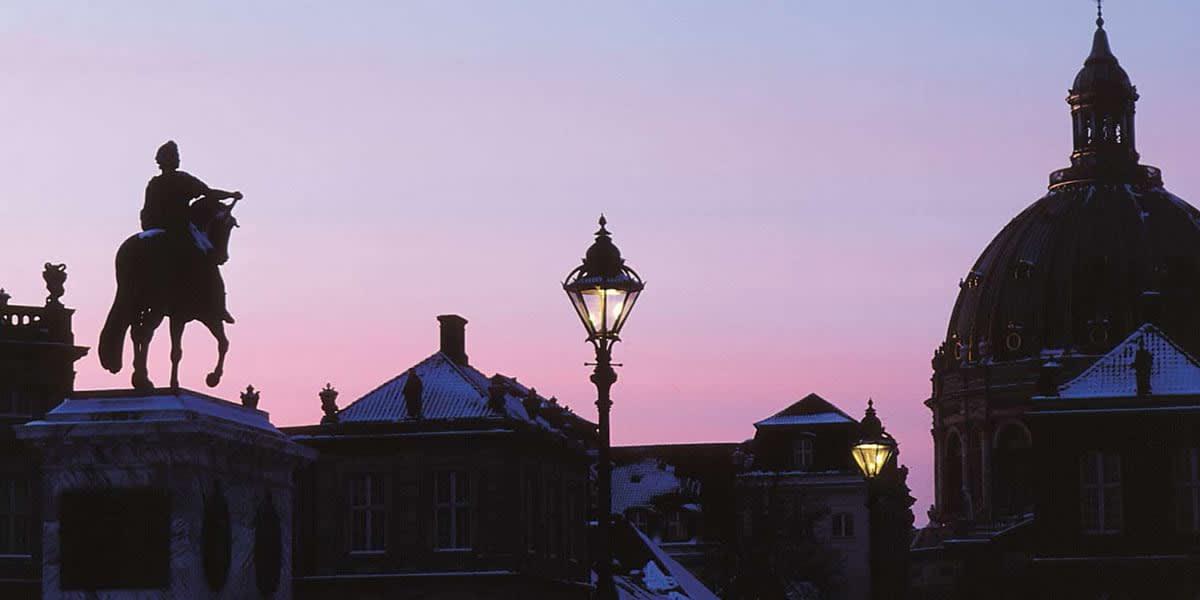 Amalienborg om vinteren