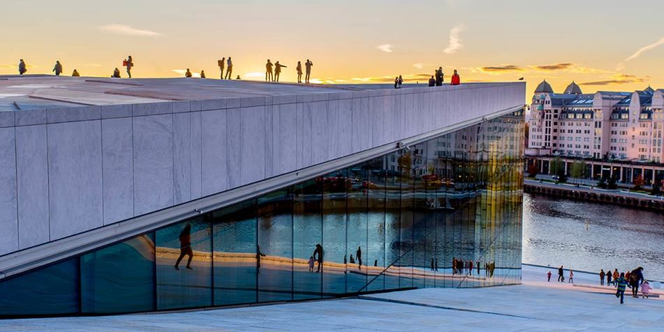 Oslo Opera at sunset