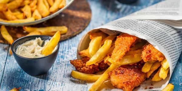 English fish and chips - Food
