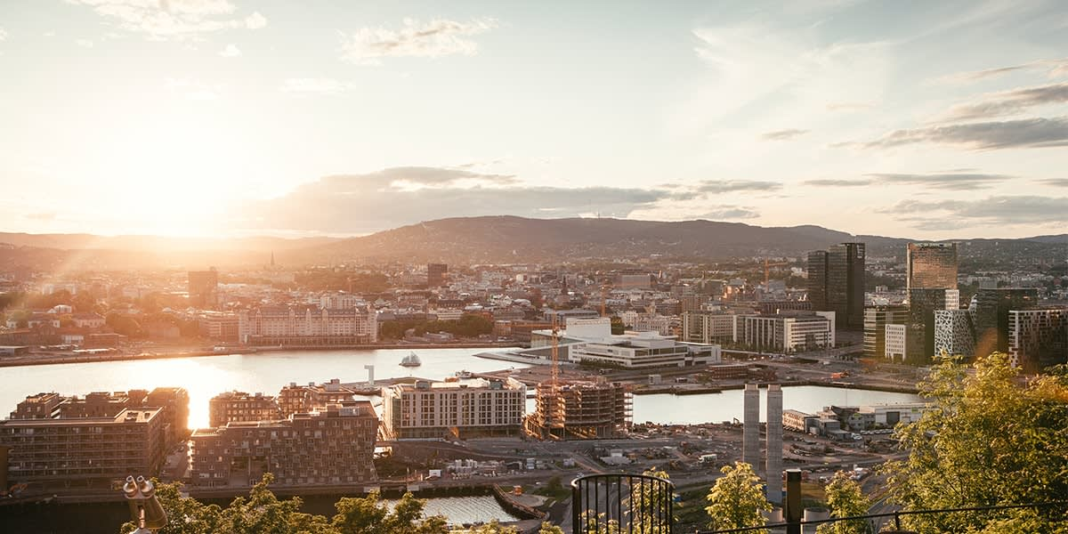 View over Oslo in Norway