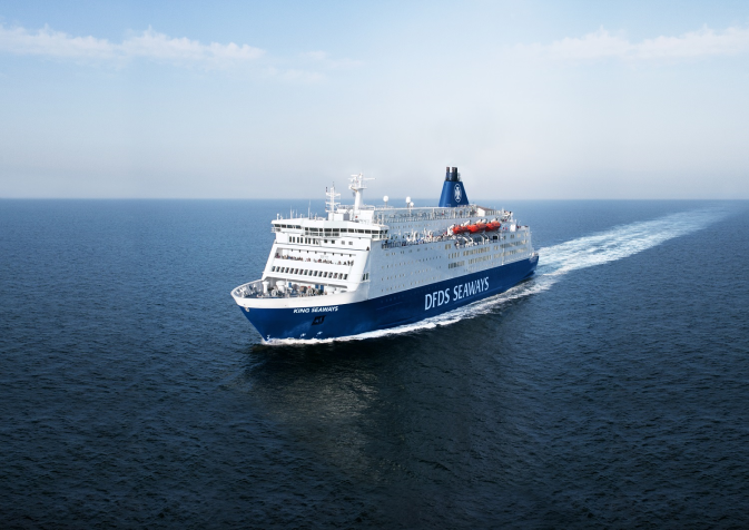 DFDS vessel King Seaways at sea
