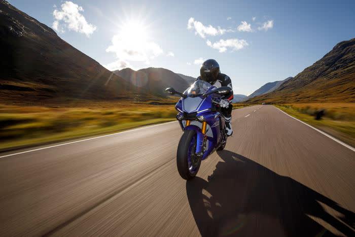 Mann auf dem Motorrad