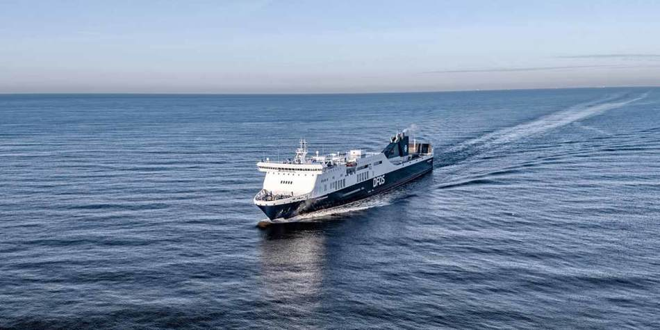 DFDS ferry on the sea - Athena