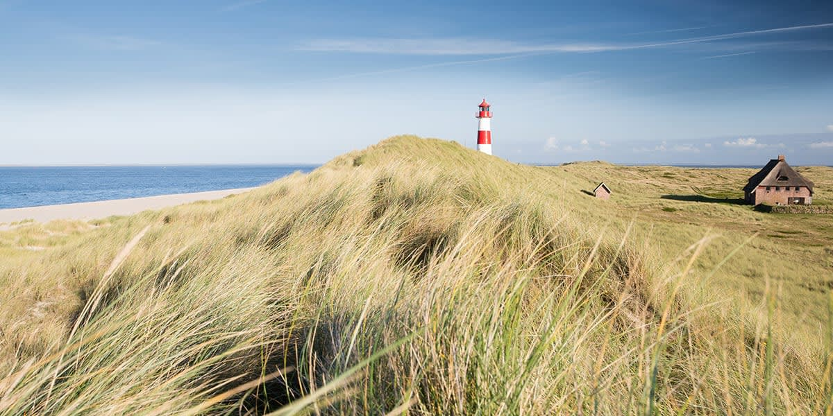 Beaches in Germany - Ellenbogen lighthouse