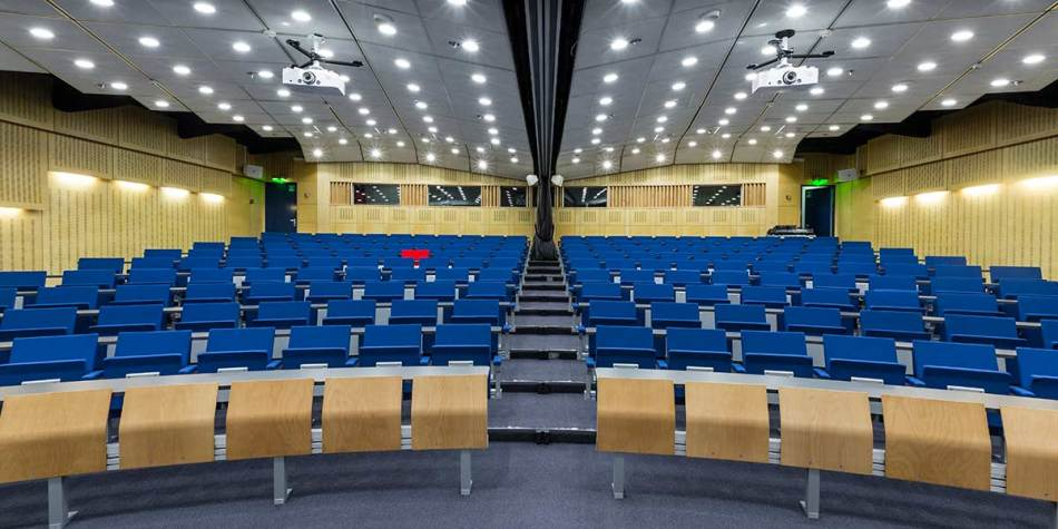 An auditorium for conferences