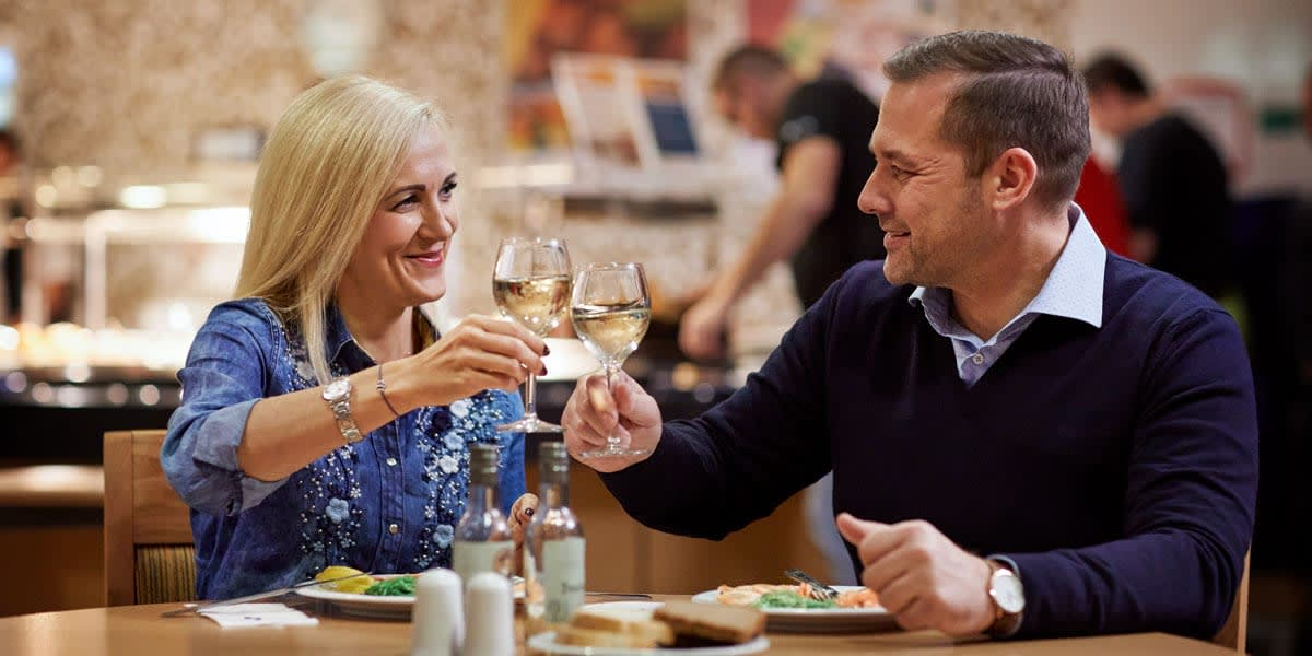 Couple dining at Liverpool Seaways