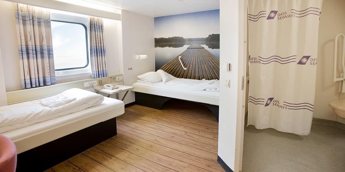 Accessible cabin onboard Copenhagen-Oslo