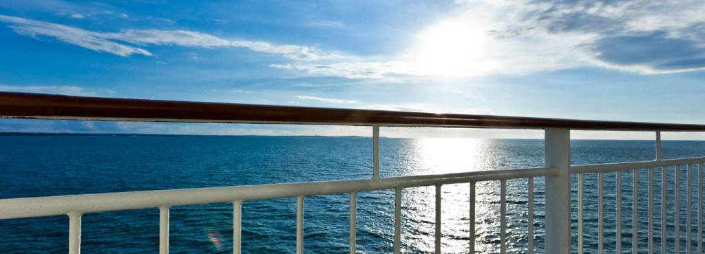 Sea view on deck