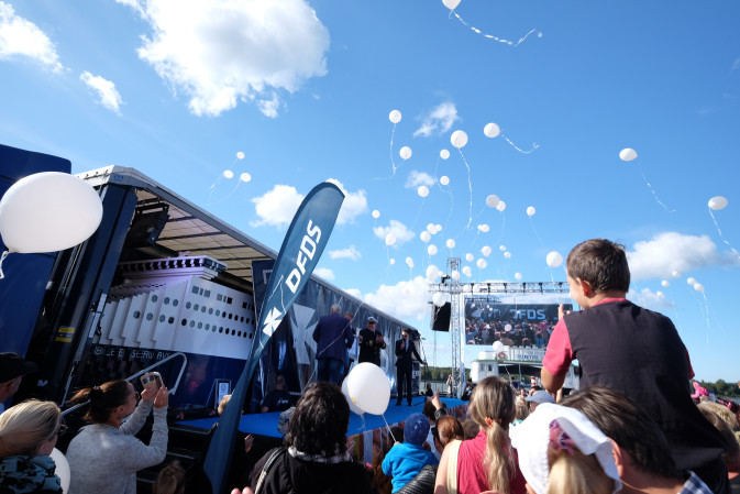 DFDS 150 year anniversary, Jubilee Lego ship arrives in Klaipeda