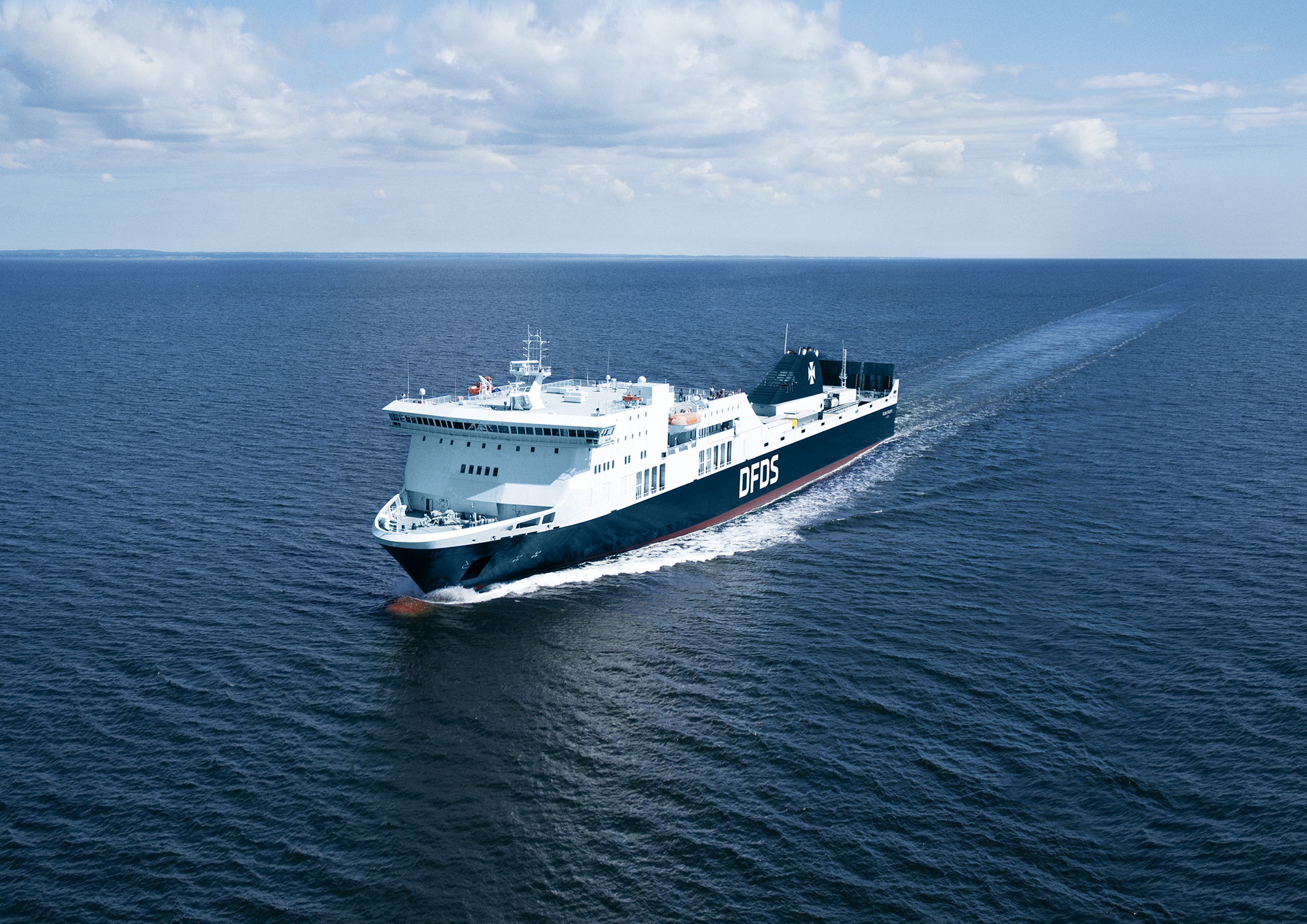 DFDS vessel on the Rosslare Dunkerque route
