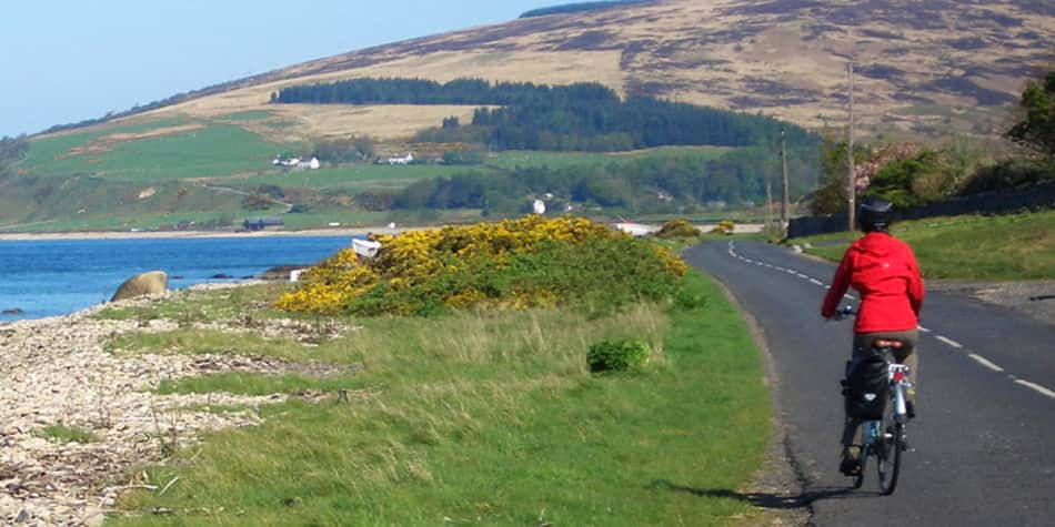 Cycling on the Isle of Arran Scotland