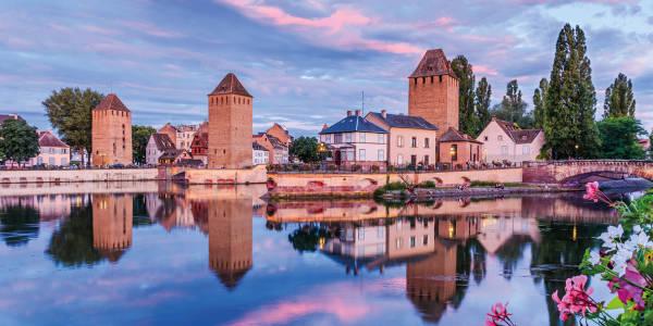 France at dusk