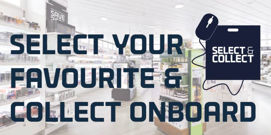 Select & Collect in DFDS onboard shop