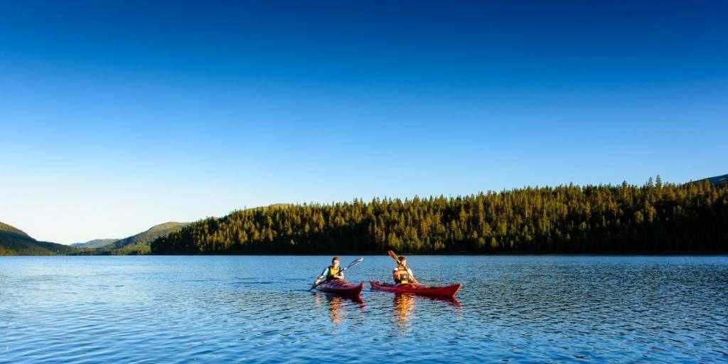 Canoeing in Espedalen - visitlillehammer photocredit Ian Brodie