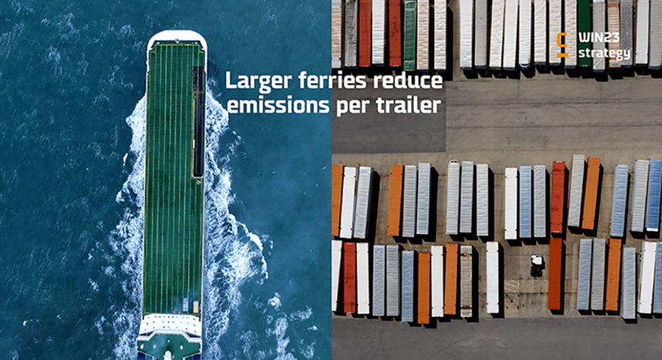 Pillar 2 of the DFDS' Win23 strategy: larger ferries and reduced emissions