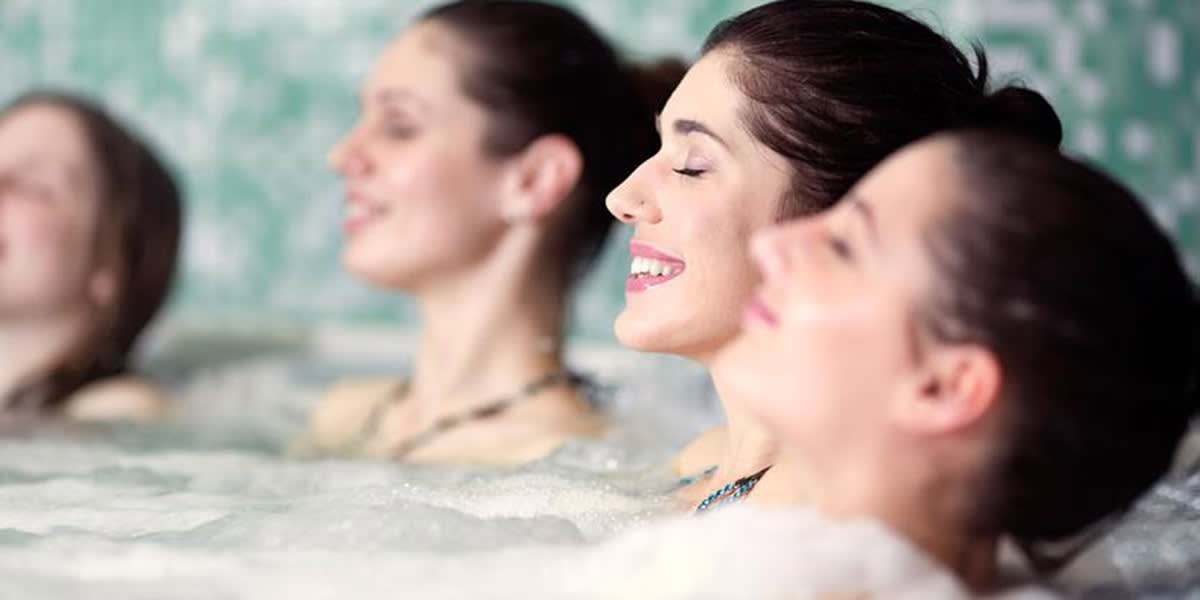 Relaxing in spa