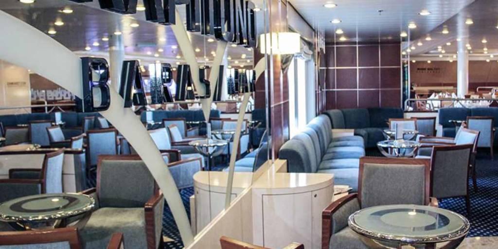 Kapitono bar onboard Athena ferry