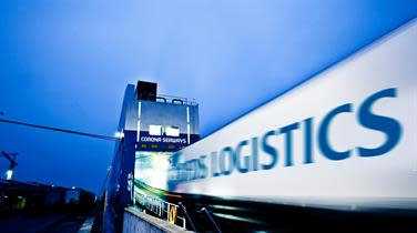 DFDS Logistics truck boarding ship