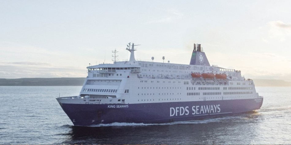DFDS King Seaways ferry at sea