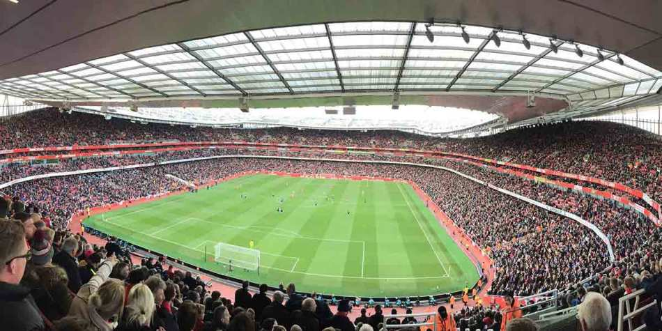 Match day at Emirates stadium
