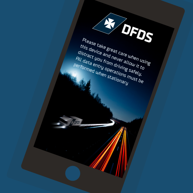 Screenshot of the DFDS Driver mobile app