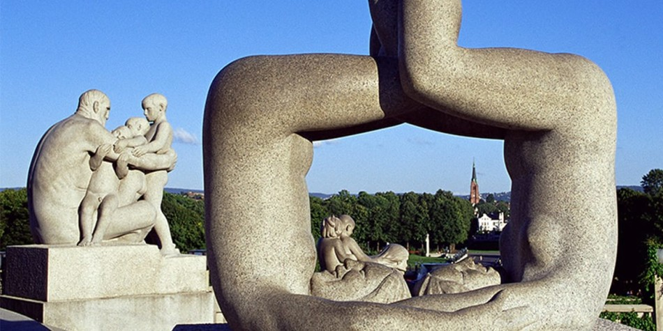 Sculptures at Vigeland Park in Oslo