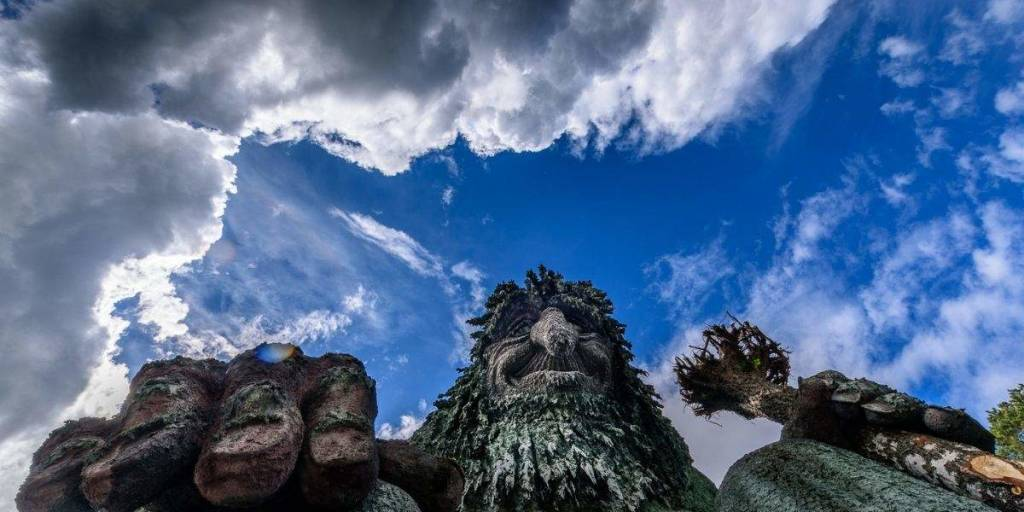 """Trolls"" at Hunderfossen Norway -  Visitlillehammer  - Photocredit Ian Brodie"