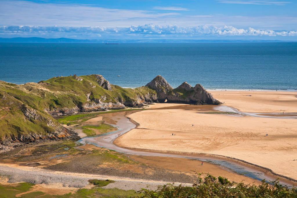 Swansea three cliffs bay in Wales