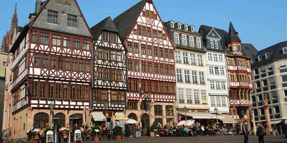 Buildings in Frankfurt city centre, Germany