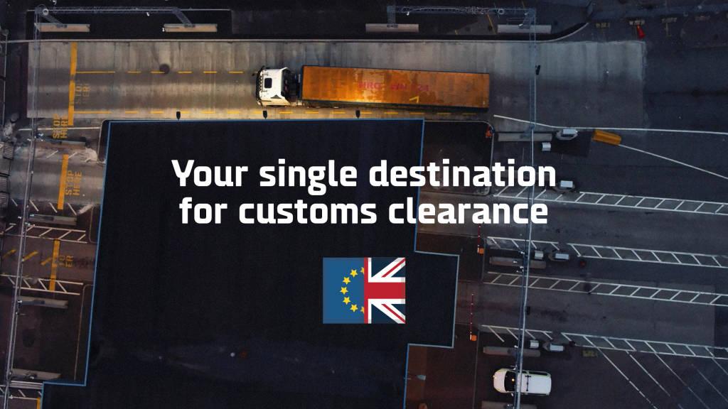 customs truck by night