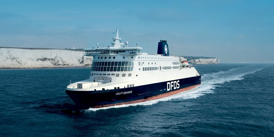 DFDS ship on France to Dover route