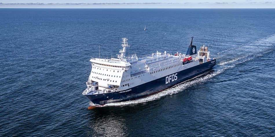 DFDS Patria ferry on the sea