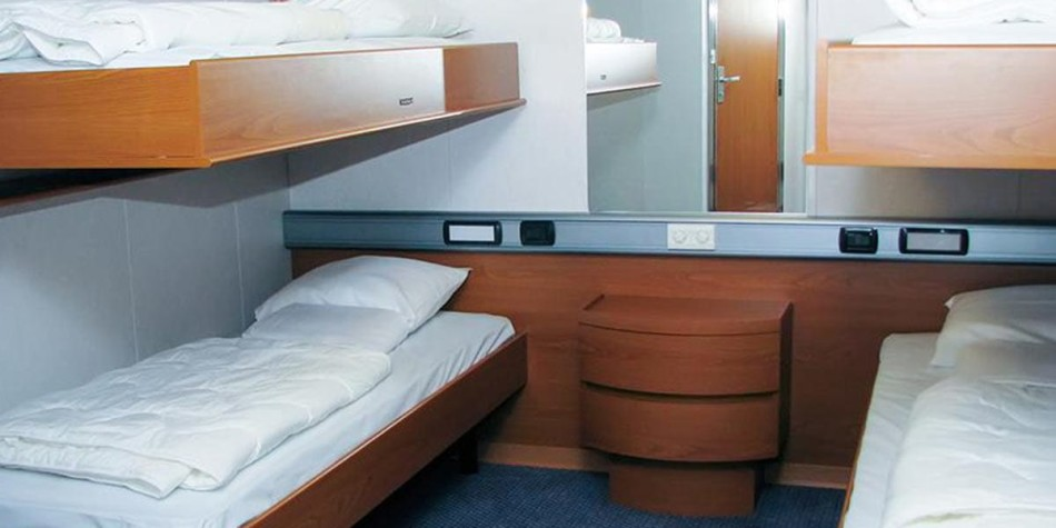 Pet friendly cabin onboard Athena Seaways DFDS ferry