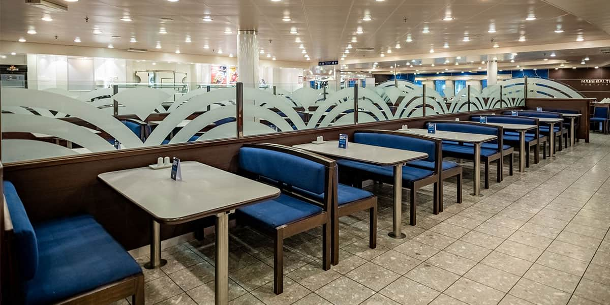 Self-service restaurant - Regina ferry