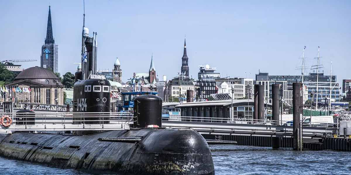 Submarine in Hamburg